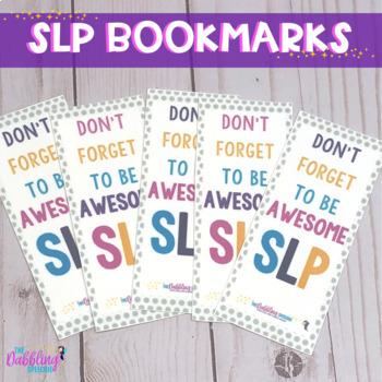 DIY Bookmark- SLP style!!