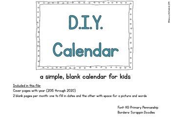 D.I.Y. Calendar