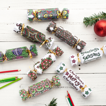 DIY Christmas Crackers - Set of 8 Christmas Cracker templates to print and color