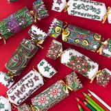 DIY Christmas Crackers - Set of 8 Christmas Cracker templa