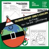 Christmas Holiday Card Envelope Clip Art Coloring & Constr