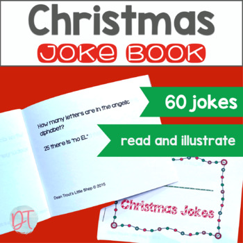 Articulation Activity:Christmas Joke Books to Illustrate