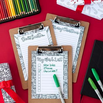 DIY Christmas Stationery -Letter to Santa, Christmas Wishlist & Christmas Letter