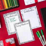 DIY Christmas Stationary -Letter to Santa, Christmas Wishl