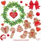 DIY Christmas Wreath, Gingerbread Christmas Wreath, Christmas Clipart,  AMB-1505