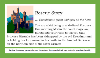 Classic Quest Story - DIY Creative Writing Activity