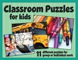 DIY Classroom Puzzles: the first few days of school