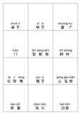 DIY Classroom items Chinese flashcards