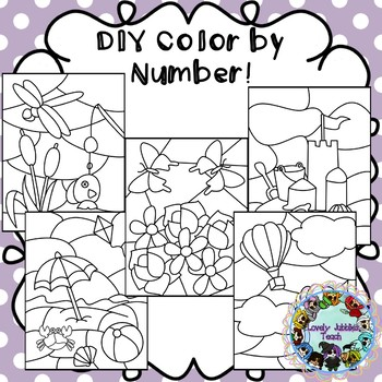 DIY Color by Number Clip Art