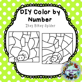 Freebie Friday 18: DIY Color by Number Clip Art: Itsy Bitsy Spider