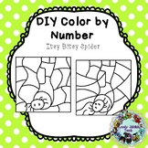 Freebie Friday 18: Editable Color by Code Clip Art: Itsy Bitsy Spider