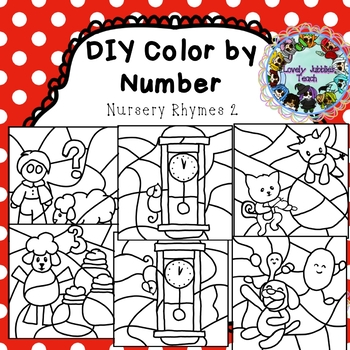 DIY Color by Number Clip Art: Nursery Rhymes 2