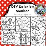 Editable Color by Code Clip Art: Nursery Rhymes 2