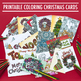DIY Coloring Christmas Cards - Set of 20 read-to-fold prin