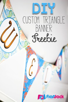 Diy Banner Template | Diy Custom Triangle Banner Template Freebie By Flapjack Educational