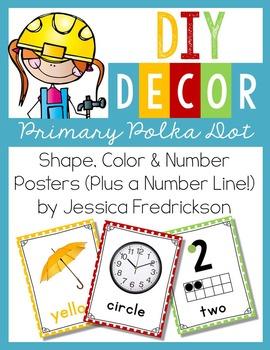 DIY Decor: Shape, Color & Number Posters Plus # Line {Prim