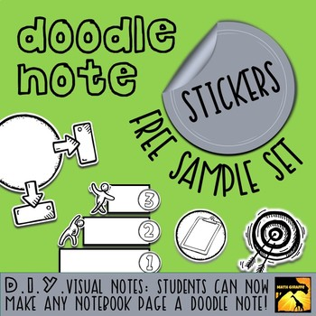 DIY Doodle Note Stickers - Free Sample by Math Giraffe | TpT