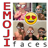 DIY - EMOJI Photo Booth Props - printable features on sticks