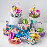 DIY Easter Egg Basket Template – Set of 8 printable PDF coloring templates