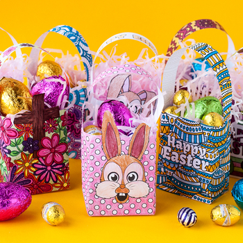Diy easter gift bags template set of 8 pdf paper bag coloring diy easter gift bags template set of 8 pdf paper bag coloring templates negle Images