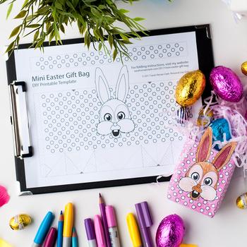 Diy easter gift bags template set of 8 pdf paper bag coloring diy easter gift bags template set of 8 pdf paper bag coloring templates negle Gallery