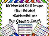 Create Your Own Word Wall Kit {Rainbow Edition}