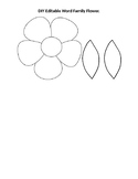 DIY Editable Word Family Flower