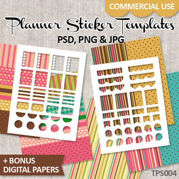 DIY Erin Condren Planner Stickers / Templates No. 4 / Life Planner