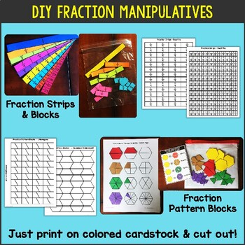 picture relating to Fraction Manipulatives Printable named Do-it-yourself Portion Kits: Printable Manipulatives + Anchor Charts