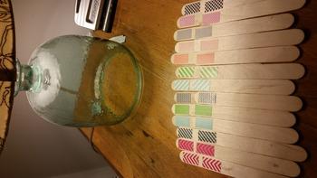 DIY Grouping Craft Sticks using Washi Tape