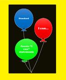 """""""I can"""" Statements Balloon Bulletin Board"""