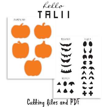 DIY Jack O Lantern- SVG PDF DXF Studio3 cutting files