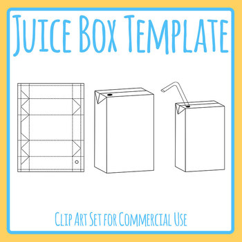diy juice box popper template clip art set commercial use by