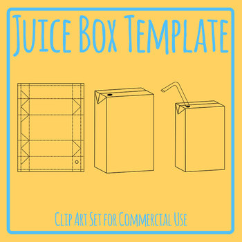 DIY Juice Box / Popper Template Clip Art Set Commercial Use