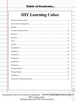 DIY Learning Cubes ELA