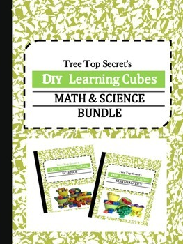 DIY Learning Cubes Math and Science Bundle