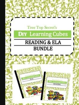 DIY Learning Cubes Reading and ELA Bundle