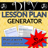 DIY Lesson Plan Generator - Google Forms