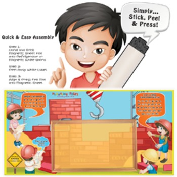 DIY Magnetic Felt Board: Word-Builder