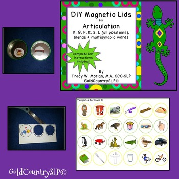 DIY Magnetic Lids Game ARTIC R, S, L, blends and multisyllabic words!