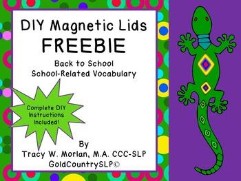 DIY Magnetic Lids Game FREEBIE!
