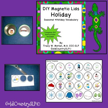 DIY Magnetic Lids Game HOLIDAYS!