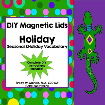 DIY Magnetic Lids Game HOLIDAYS!