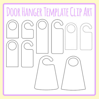 DIY Make Your Own Door Hanger Templates Blank Clip Art Commercial Use