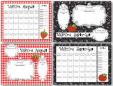 Monthly Calendar-Newsletter Blank EDITABLE Templates (PowerPoint)