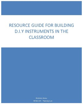 DIY Music Instruments for all Core Subjects