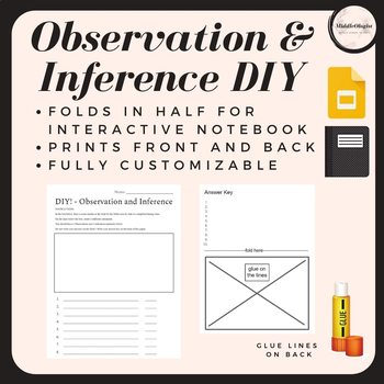 DIY! Observation and Inference PRINTABLE Worksheet