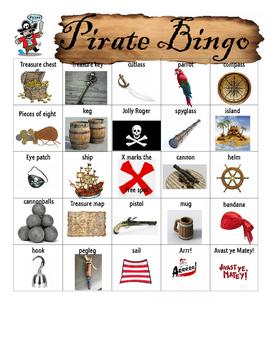 DIY PDF Pirate Bingo Game