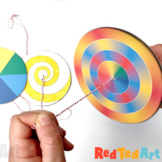 DIY Paper Spinner Toys - Simple STEAM Project for Optics,