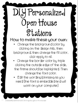 DIY Personalized Open House Stations